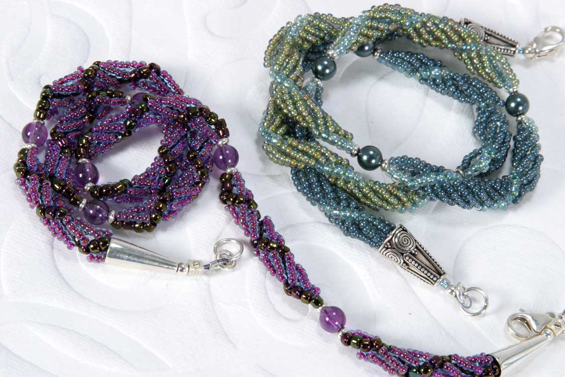 Beaded Jewelry Spiral Rope Necklace Susan Jefferson Jewelry Designs