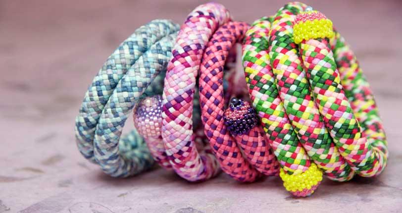 Kumihimo Spiral Bracelets