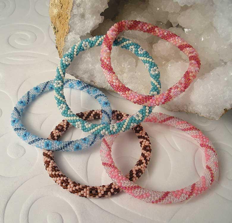 Balkan Bead Crochet Bracelets