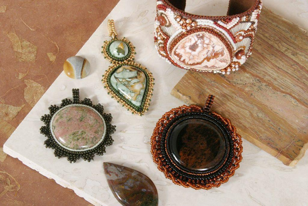 Beaded Cabochons & Cuff