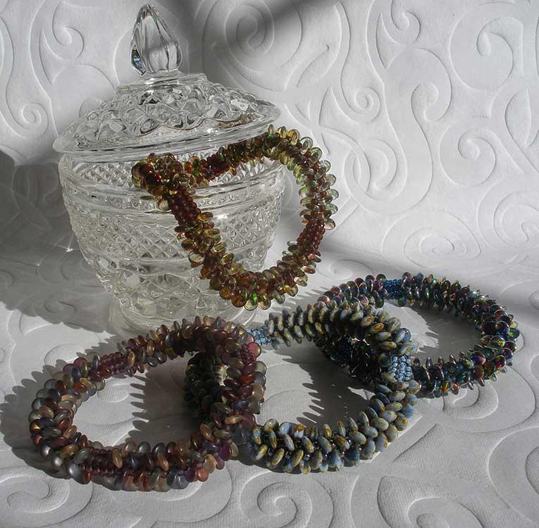 Lentil Herringbone Bracelets