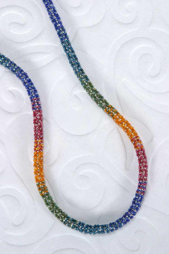 Multi-Colored Netted Necklace