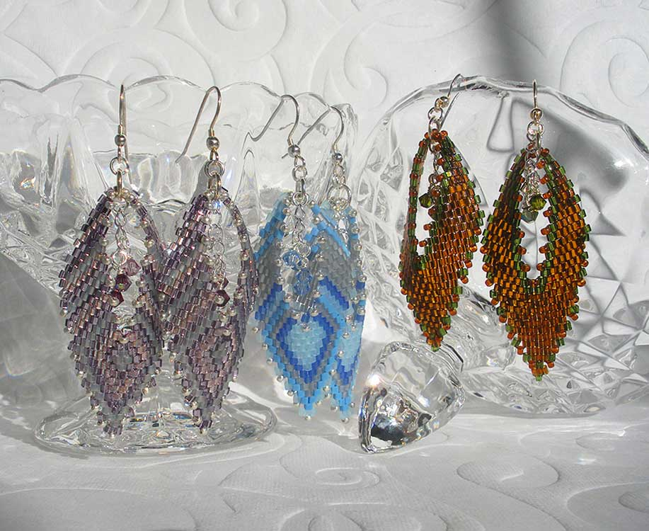 Off-loom Stitched Earrings