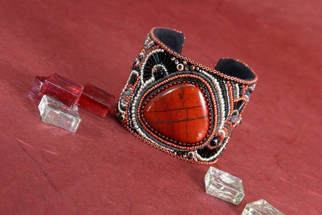2-inch Red Jasper w/Hemitite Cuff