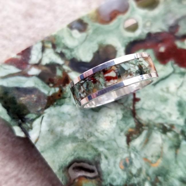 Ranforest Jasper Inlay Ring
