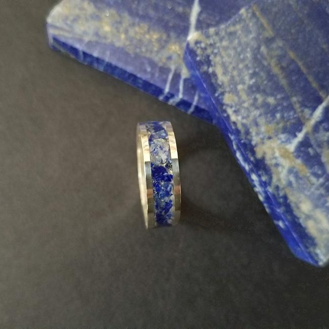 Lapis & Sterling Silver Inlay Ring